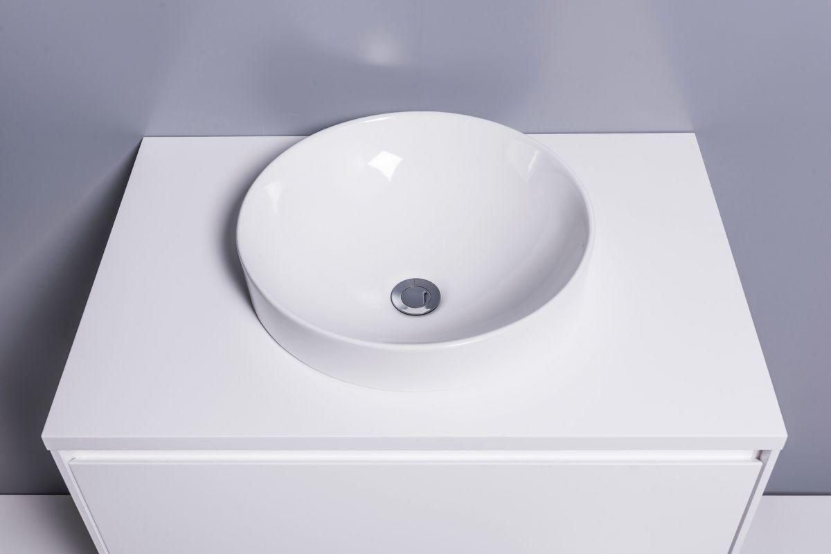 Sleek Round Semi-Recessed Basin