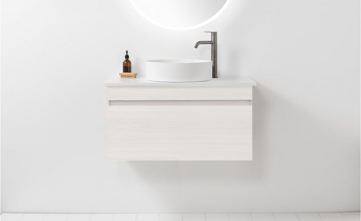Soft Solid Surface 800 Wall-Hung Vanity 1 Drawer