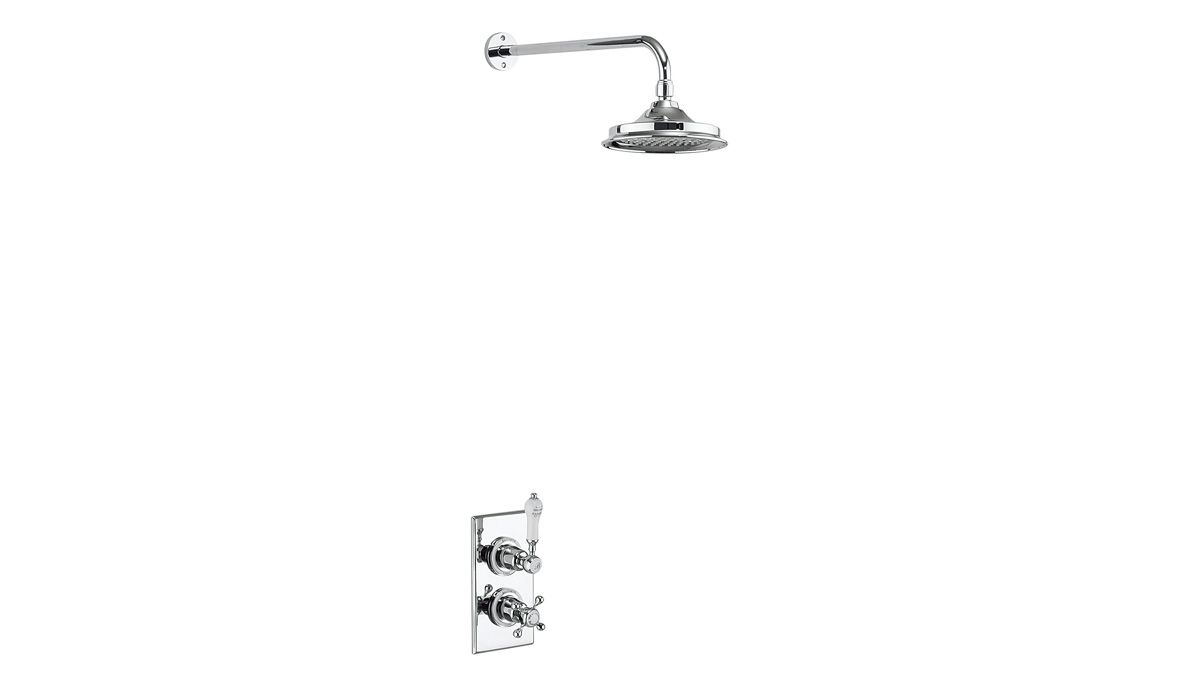 Trent Thermostatic Single Outlet Shower Valve with Fixed Rose