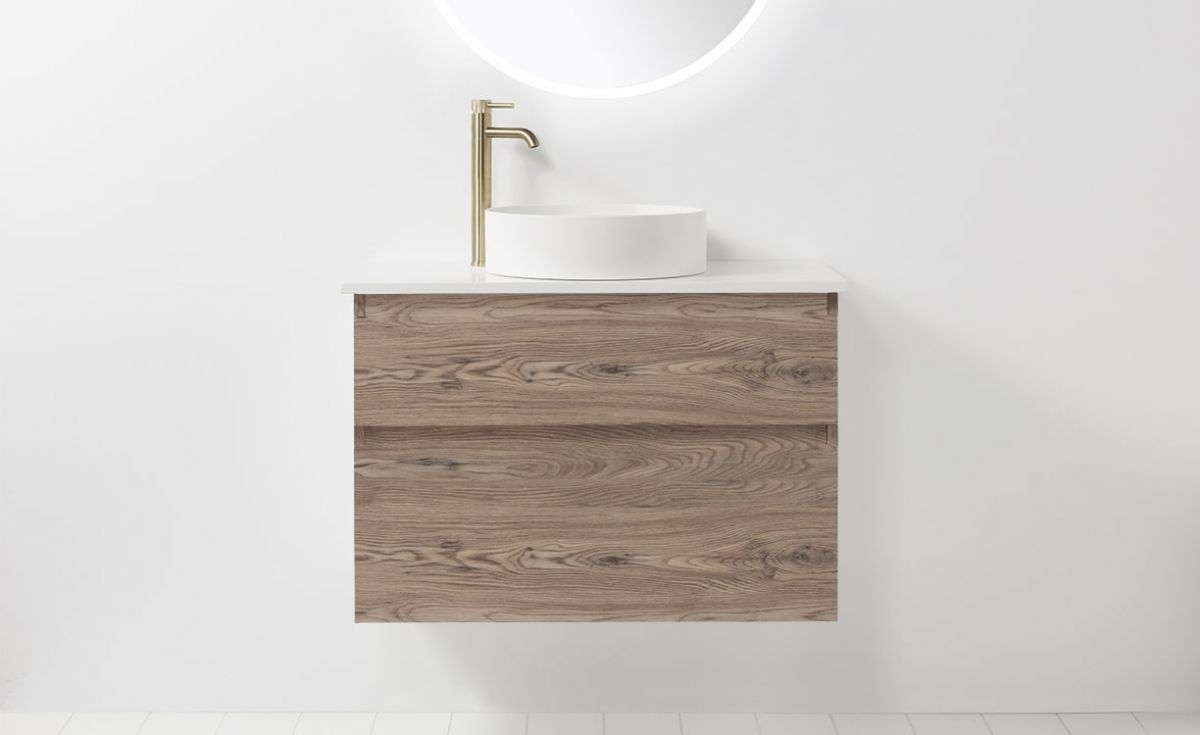 Soft Solid Surface 900 Wall-Hung Vanity 2 Drawers