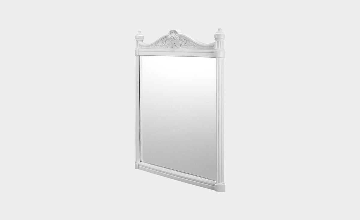 Georgian White Aluminum Frame Mirror