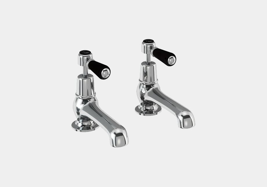 Kensington Bath Tap Deck Mounted 12.5cm in Chrome/White