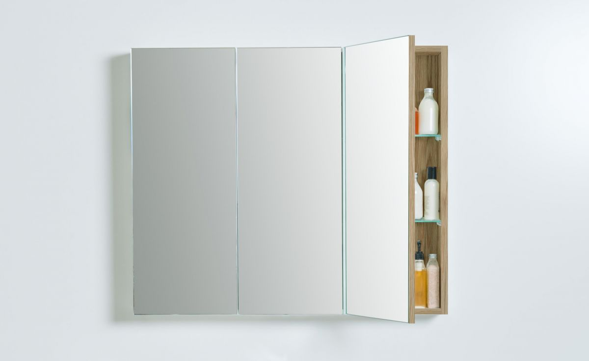 Mirror Unit 900 – 3 Doors, 4 Shelves