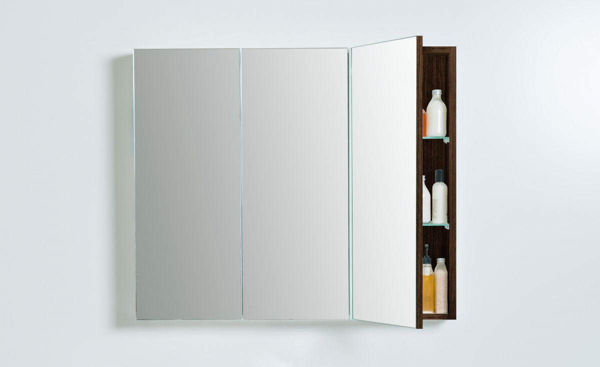 Mirror Unit 900 – 3 Doors, 6 Shelves