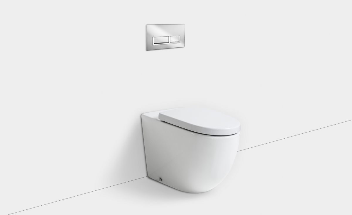 Rest Rimless Wall-Faced Toilet Suite with In-Wall Cistern