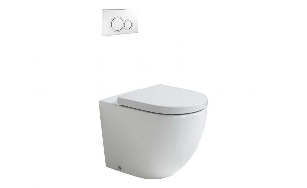 Rest Rimless Back-to-Wall Toilet Suite with In-Wall Cistern