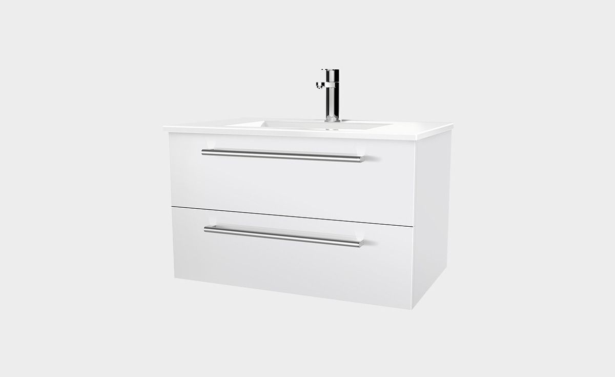 Zara 750 Wall Hung Vanity 2 Drawers Bath Co