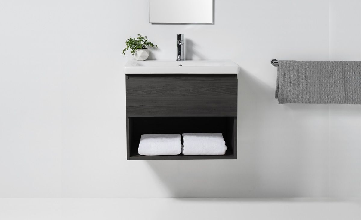 Soft 650 Wall-Hung Vanity 1 Drawer & Open Shelf