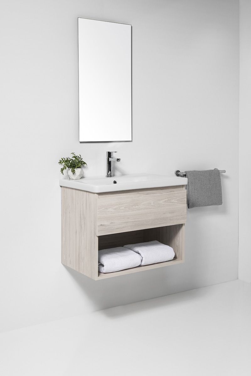 Soft Vanity - 1200mm, 1 drawer & open shelf
