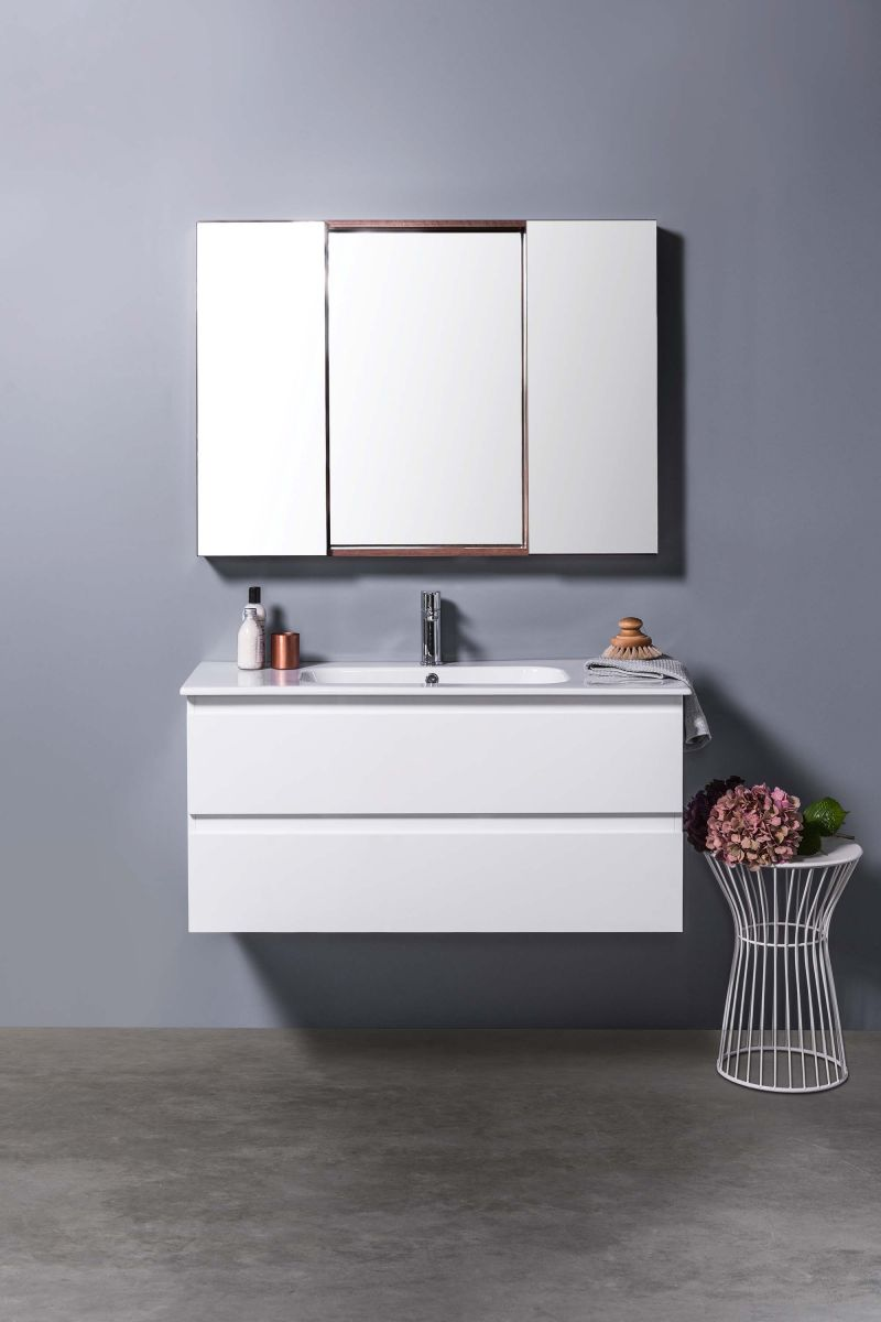 Mirror Unit 1200 - 2 Doors, 4 Shelves