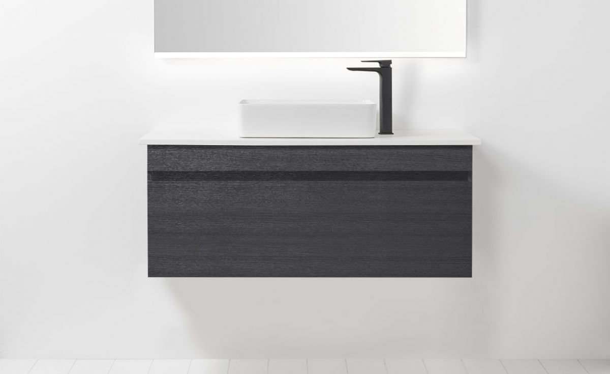 Soft Solid Surface 1200 Wall-Hung Vanity 1 Drawer