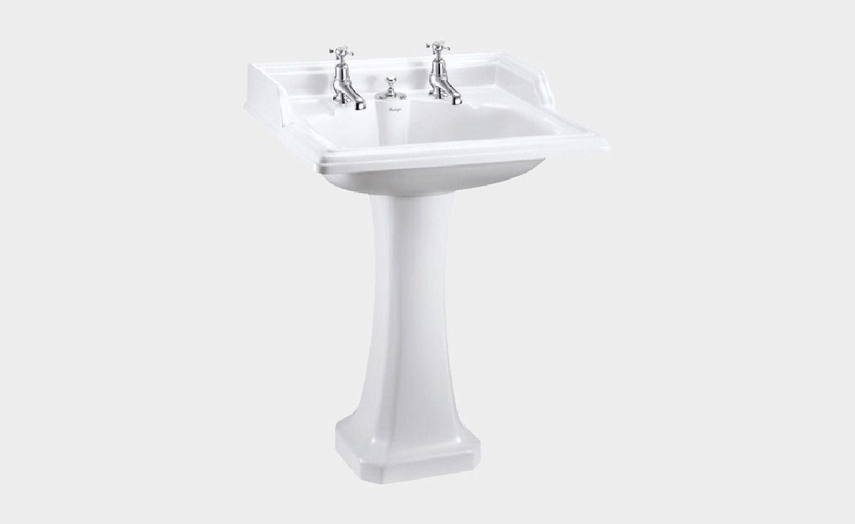 Classic Rectangle 650 Basin with Invisible Overflow & Pedestal