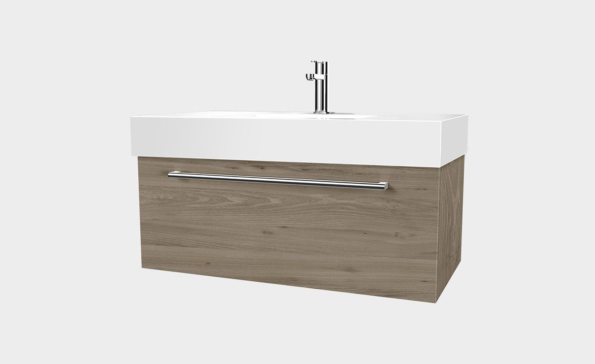 Splash 900 Wall Hung Vanity 1 Drawer Bath Co