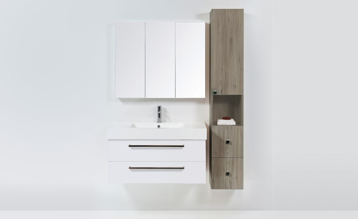Tall Cupboard 1 Door 2 Drawers 1 Shelf
