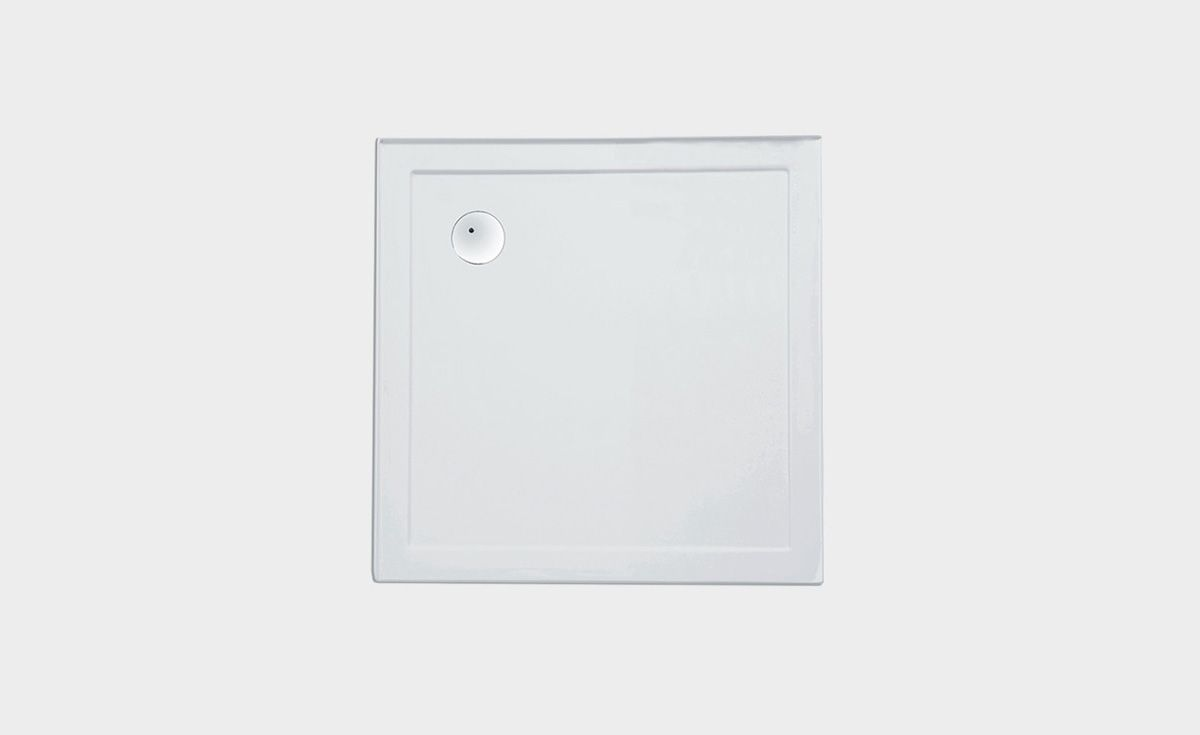 2-Sided Moulded Upstands Shower Tray 1010 x 1010