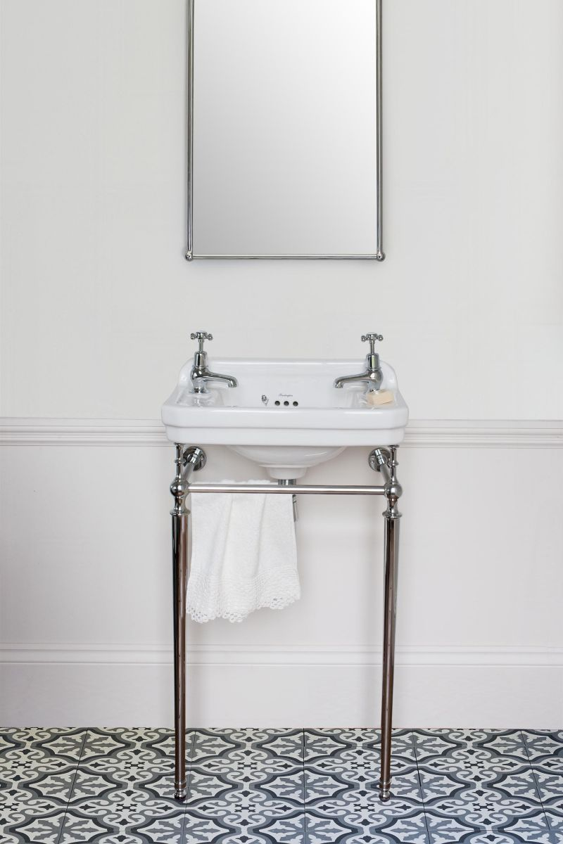 Edwardian Rectangle 510 Cloakroom Basin & Wash Stand