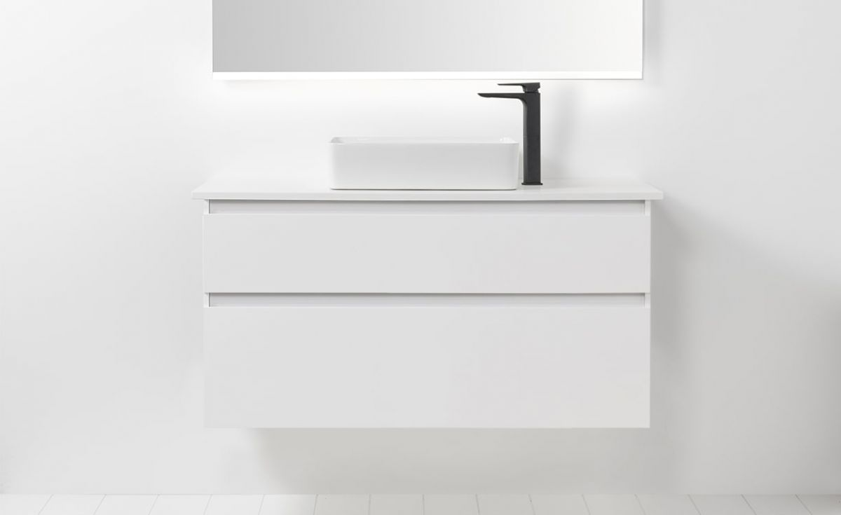 Soft Solid Surface 1200 Wall-Hung Vanity 2 Drawers