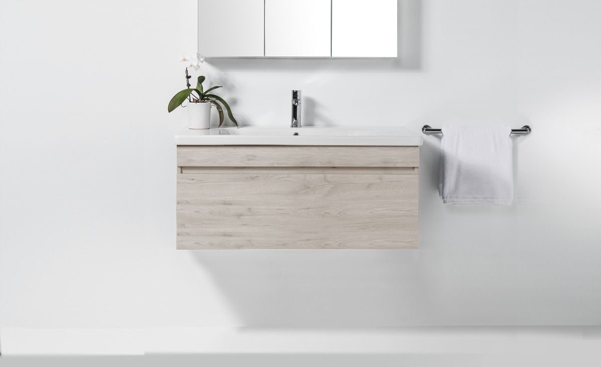 Soft 1000 Wall Hung Vanity 1 Drawer Bath Co