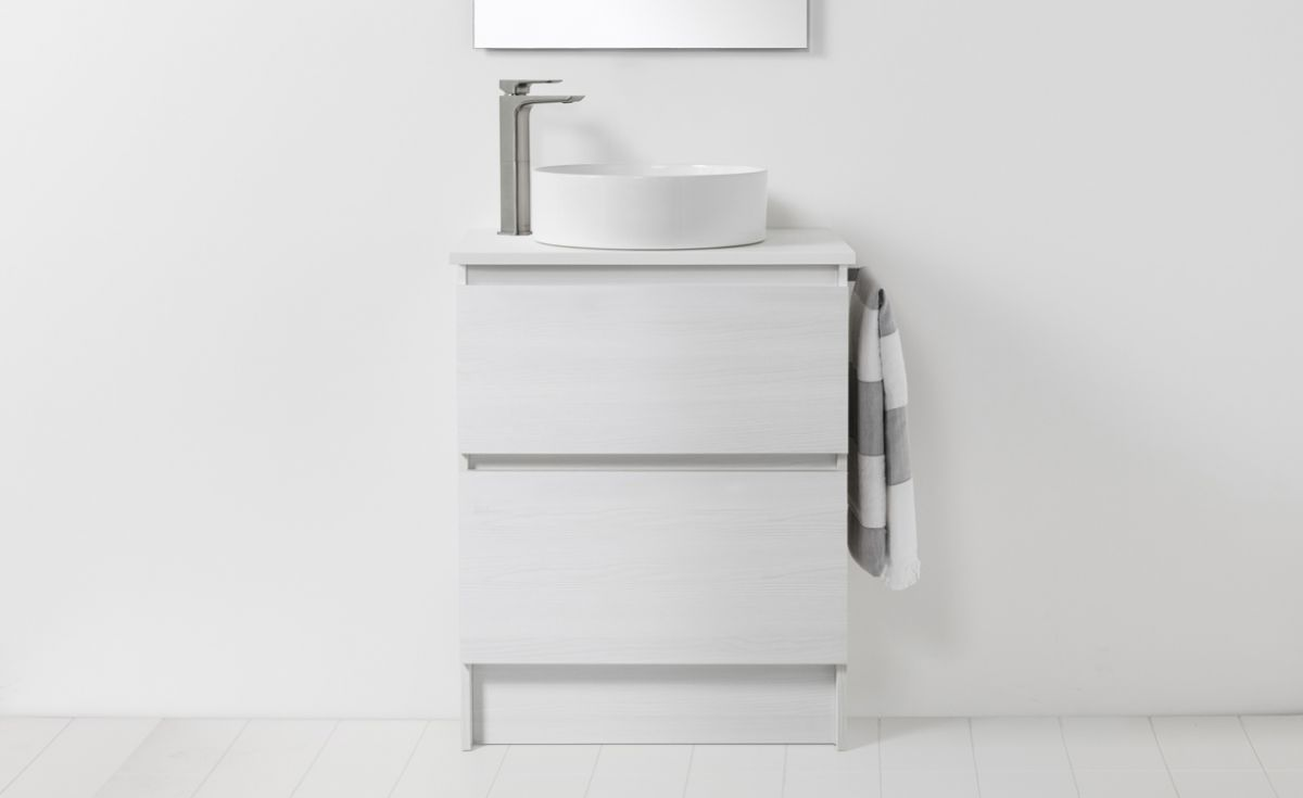 Soft Solid Surface 650 Floor Standing Vanity 2 Drawers