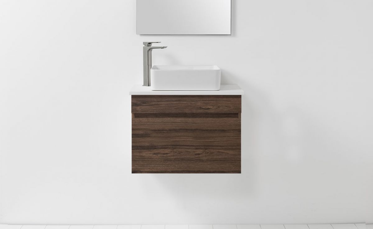 Soft Solid Surface 650 Wall-Hung Vanity 1 Drawer