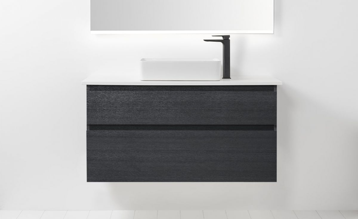 Soft Solid Surface 1000 Wall-Hung Vanity 2 Drawers