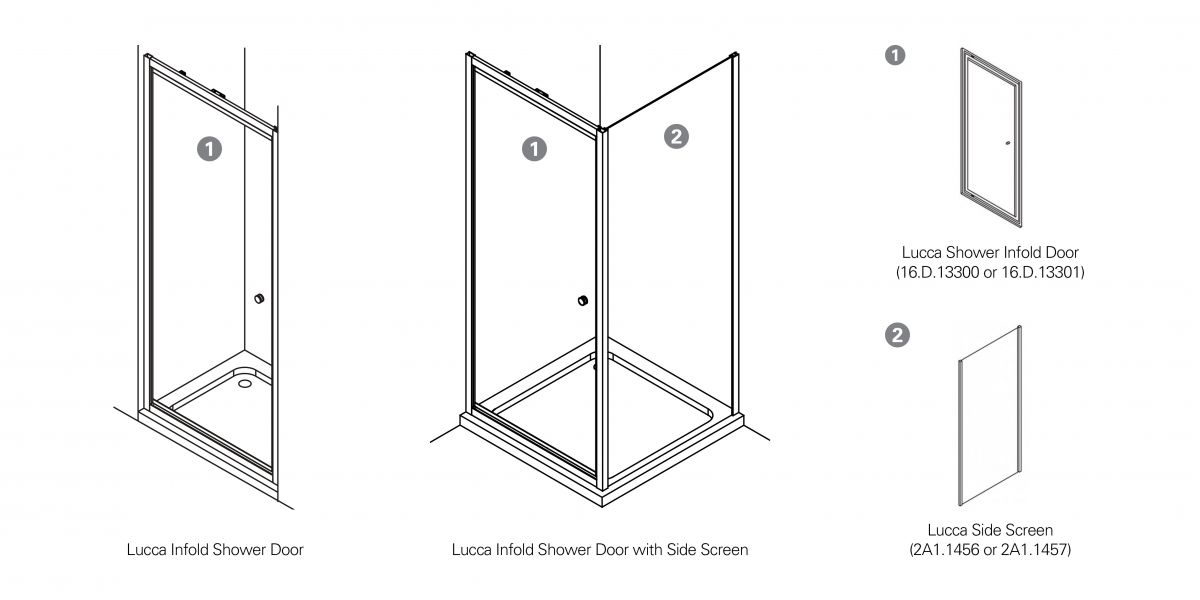Lucca Infold Shower Guide
