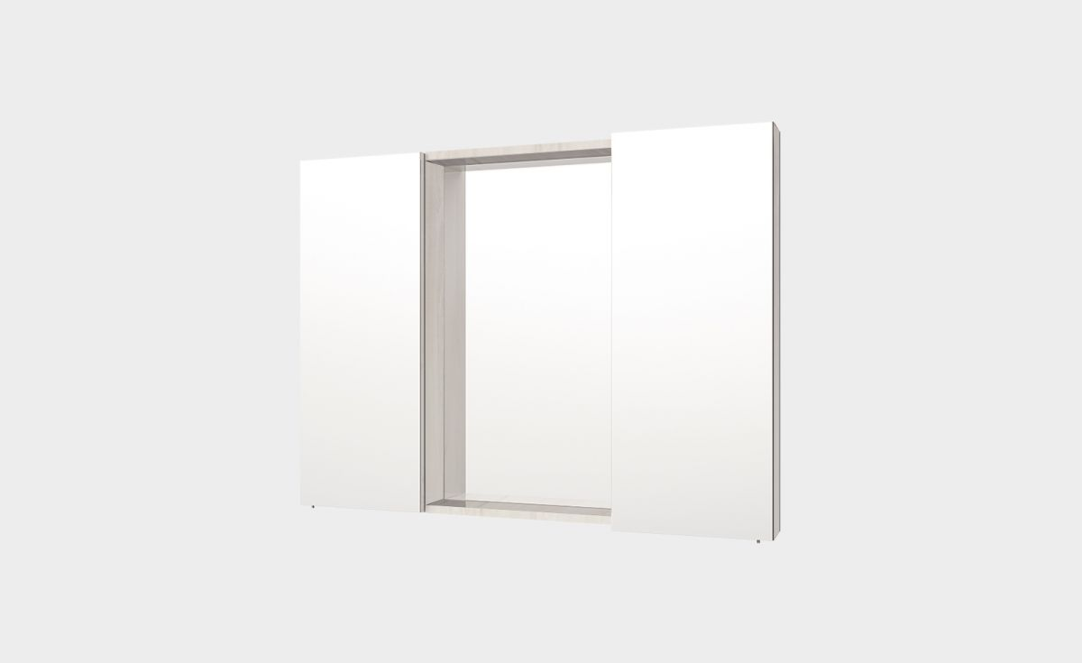 Mirror Unit 1000 – 2 Doors, 4 Shelves