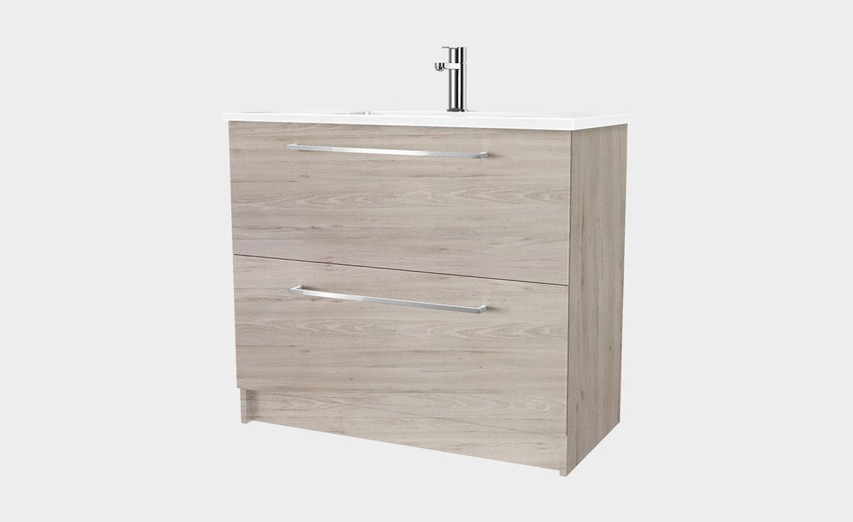 Zara 900 Floor Standing Vanity 2 Drawers Bath Co