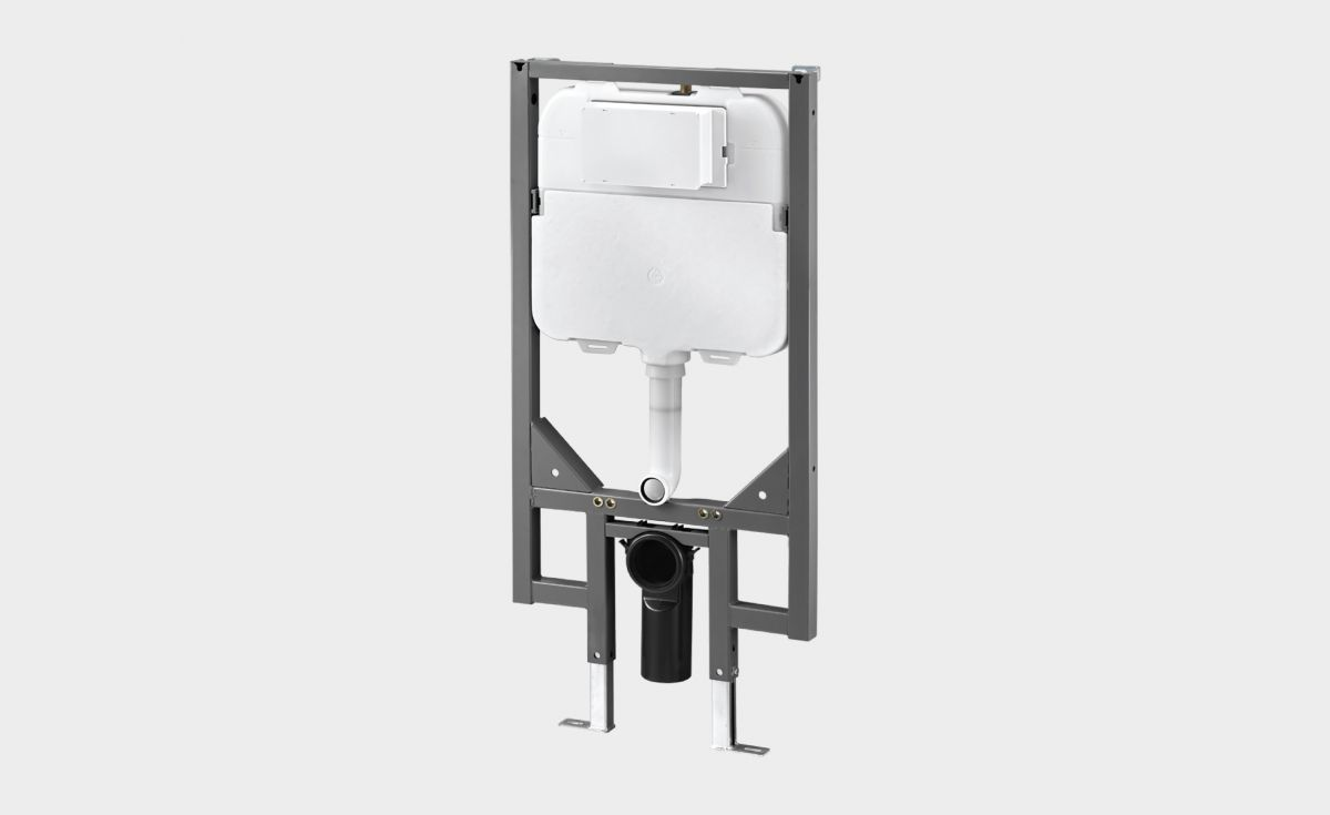 In-Wall Toilet Cistern with Steel Frame