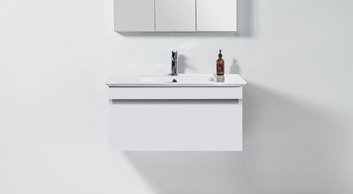 Sharp 900 Wall-Hung Vanity 1 Drawer