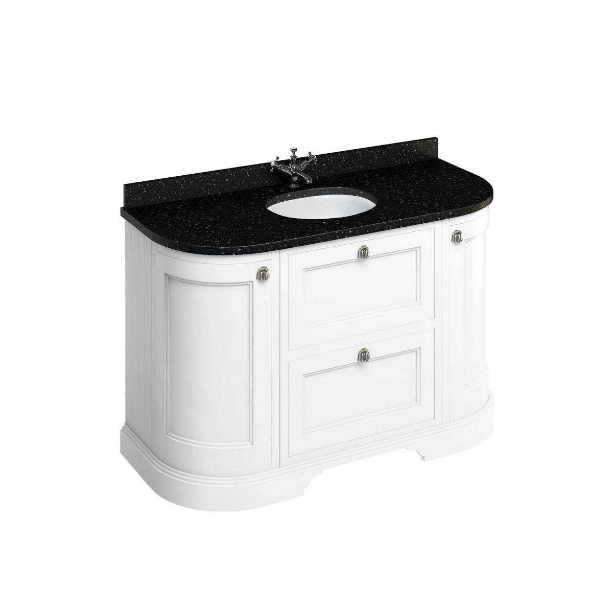 1340 Freestanding Curved Vanity Unit