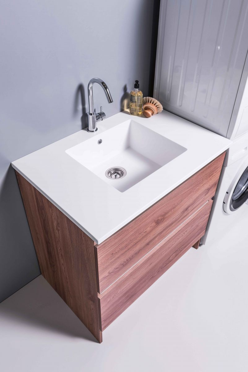 White Kordura Inset Laundry Sink with 900 Lau