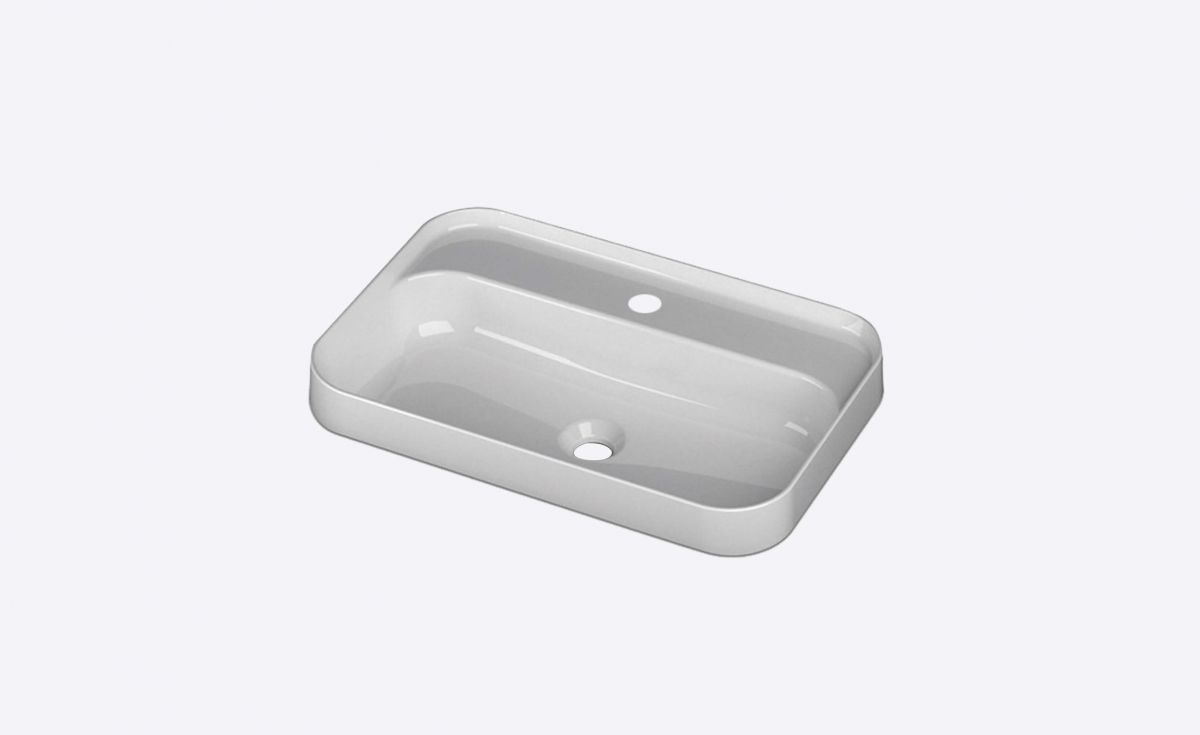 Slim 600 Semi-Recessed Basin