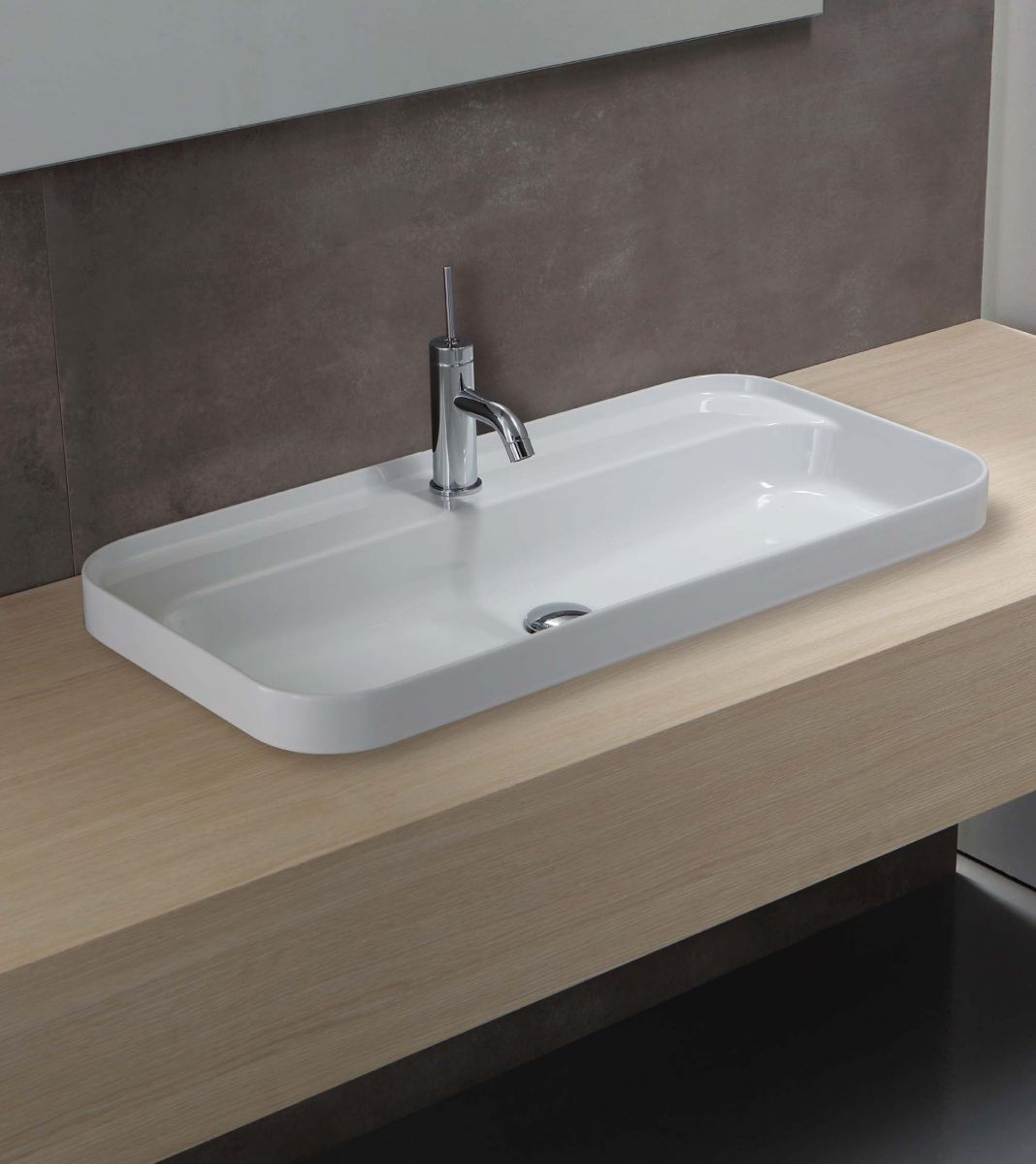 Slim 600 Semi-Recessed Basin