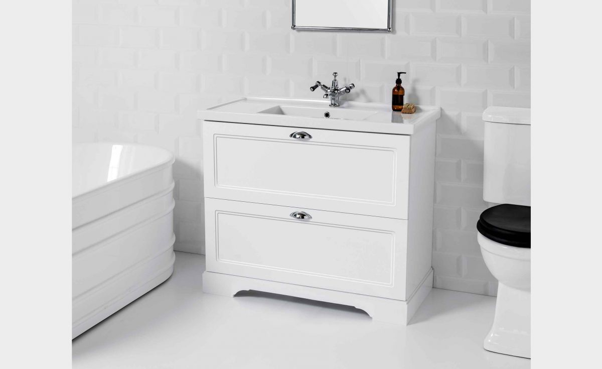 English Classic 1000 Floor Standing Vanity 2 Drawers