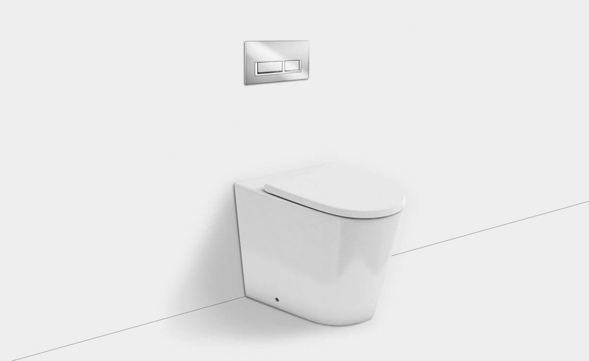 Sphere Easy Height Rimless Wall-Faced Toilet Suite with In-Wall Cistern