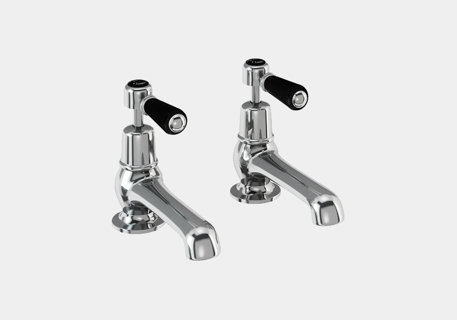 Kensington Basin Tap 12.5cm in Chrome/White