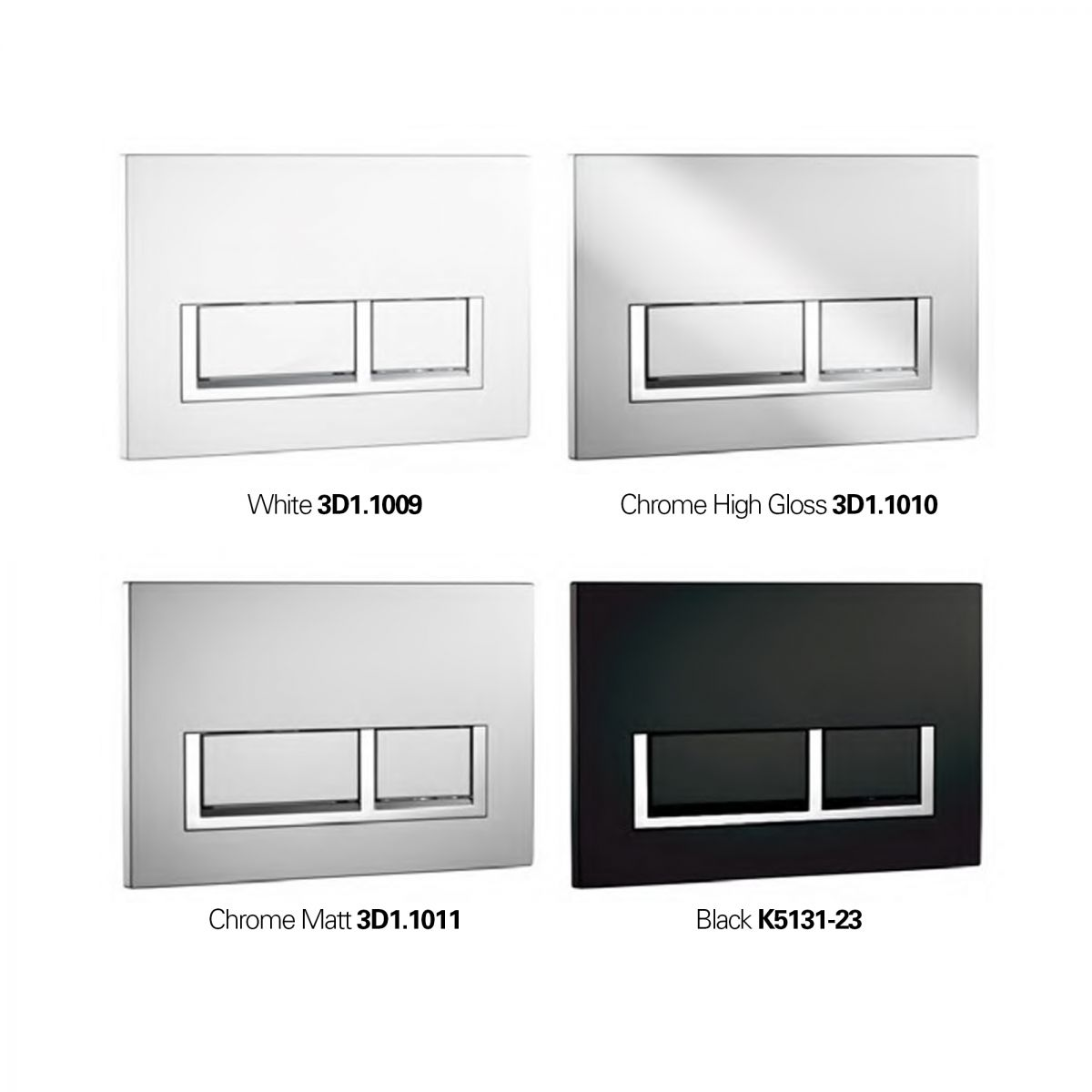 K5131 Flush Plate - Rectangle Option