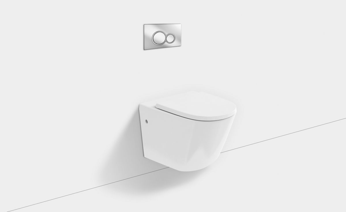 Sphere Rimless Wall-Hung Toilet Suite with In-Wall Cistern