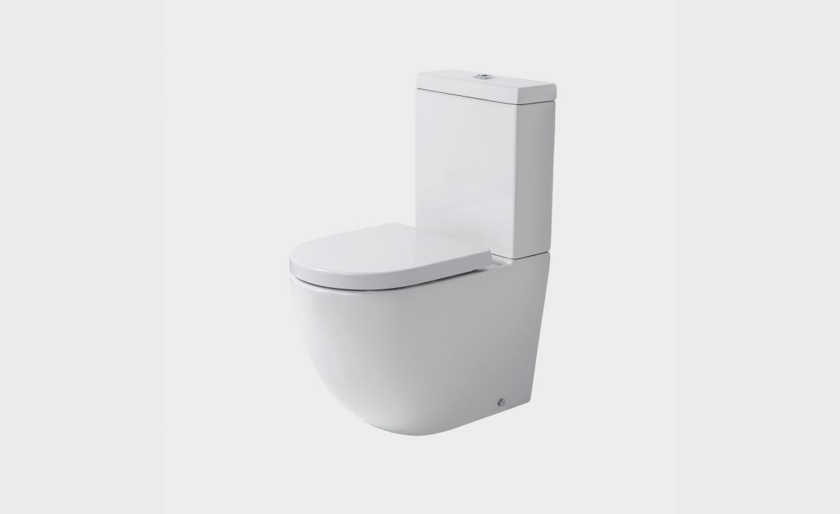 Rest Rimless Back-To-Wall Toilet Suite with Cistern