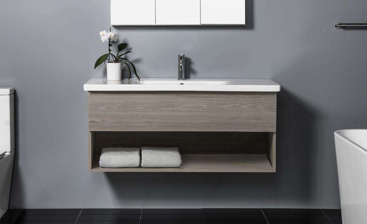 Soft 1200 Wall-Hung Vanity 1 Drawer & Open Shelf