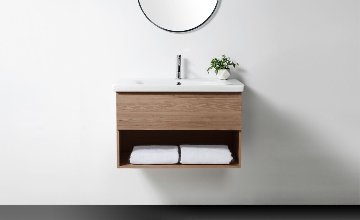 Soft 800 Wall-Hung Vanity 1 Drawer & Open Shelf