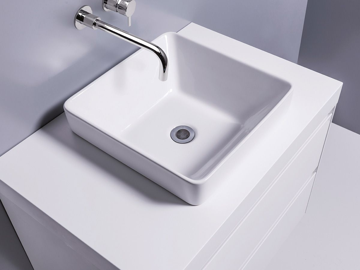 Sleek Square Semi-Recessed Basin