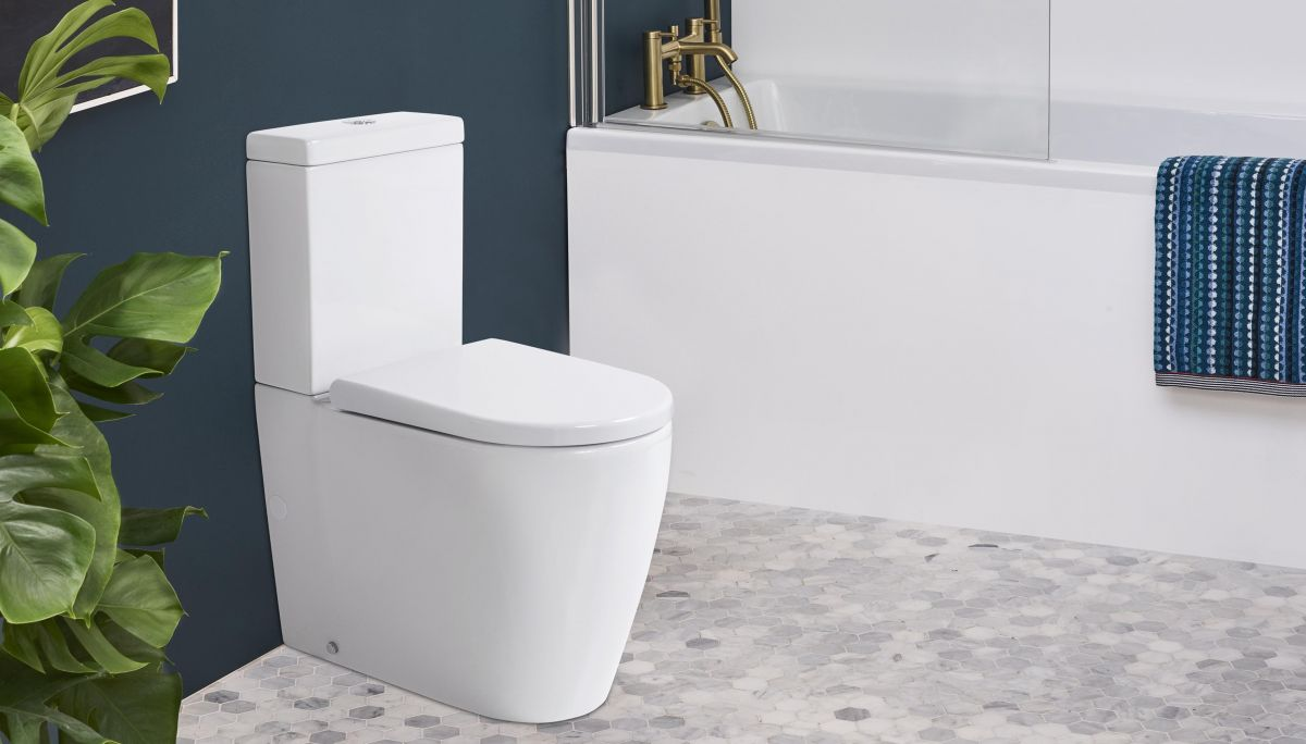 Cascade Easy Height Rimless Back-To-Wall Toilet Suite with Cistern