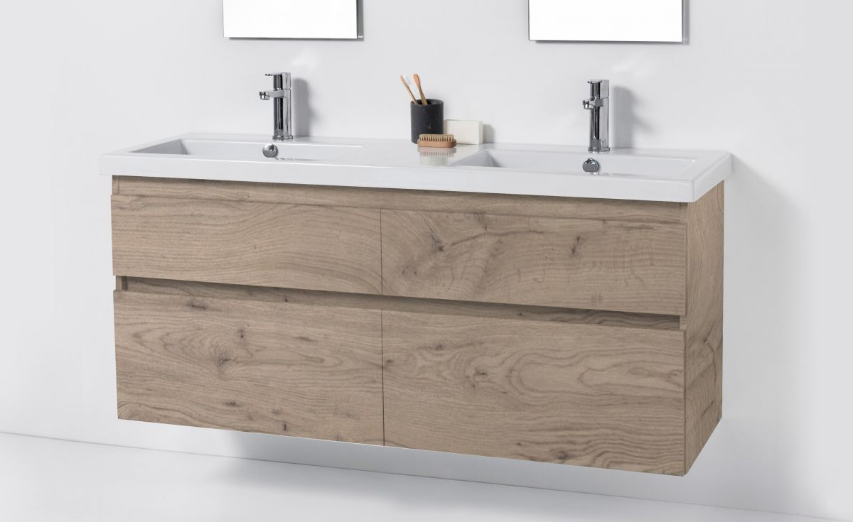 Cangas 1400 Wall-Hung Vanity Double Bowl 4 Drawers