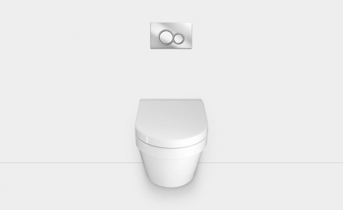 Onda Wall-Hung Toilet Suite with In-Wall Cistern