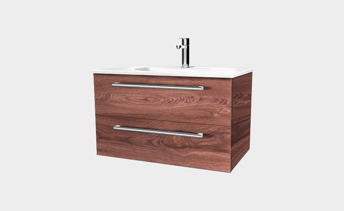 Fresh 750 Wall Hung Vanity 2 Drawers Bath Co