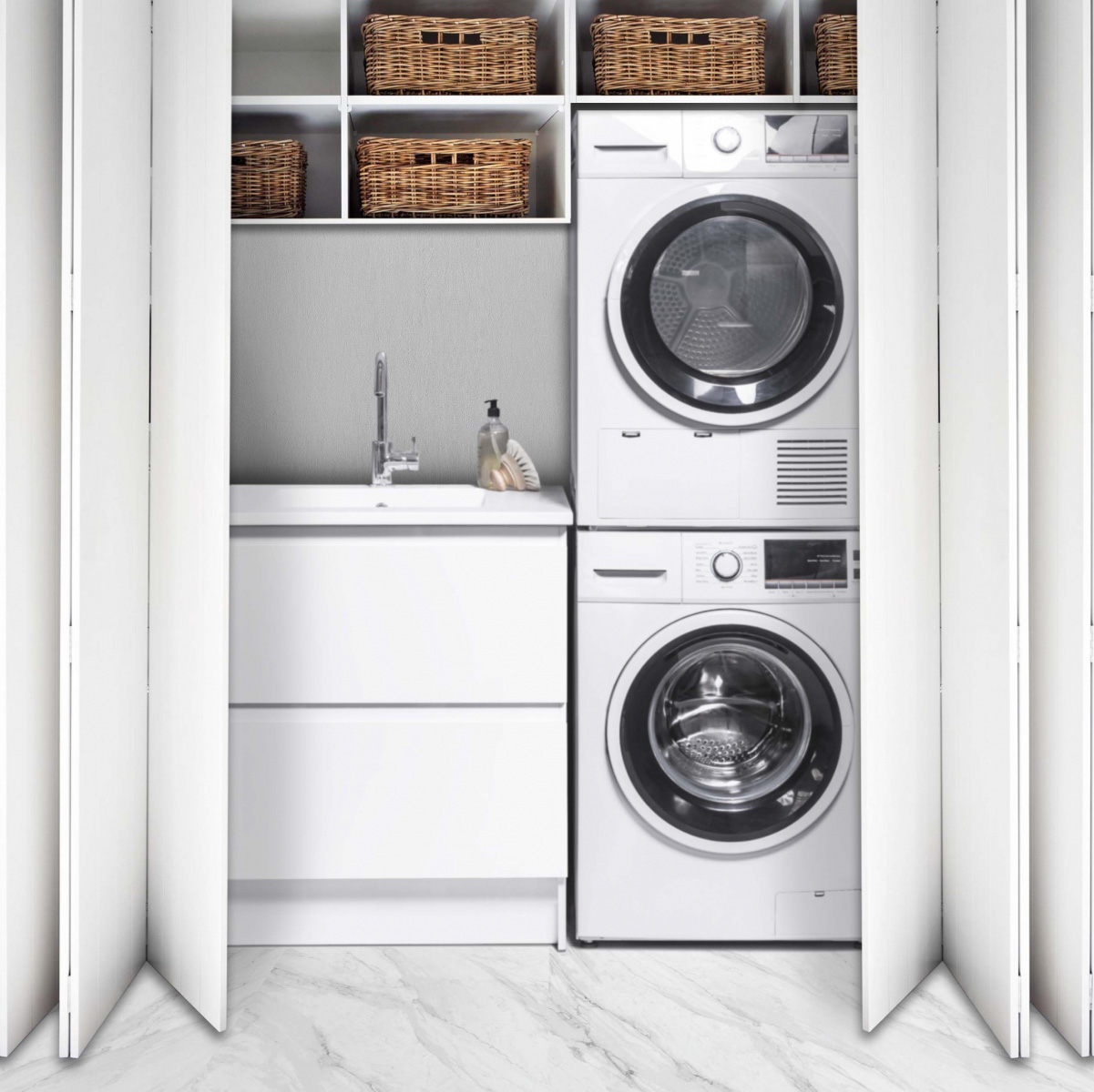 5 Ideas For A Small Laundry Spaces Bath Co